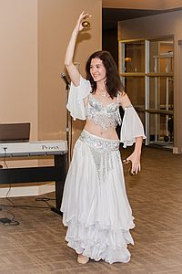 belly dancing performance team member Svitlana