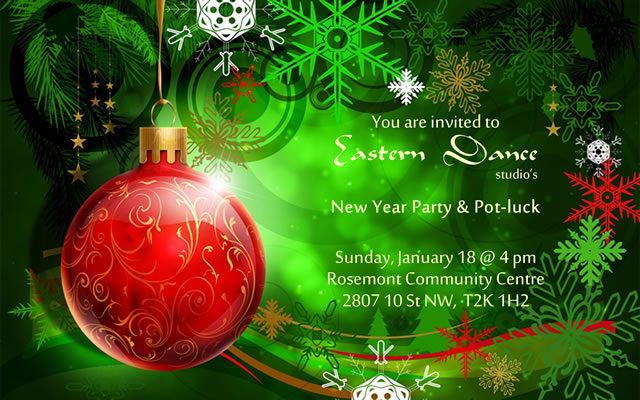 New year party poster 2015 Eastern Dance Studio